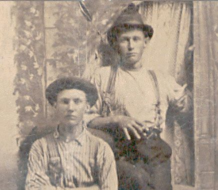 Is the young man on the right Henry Antrim, alias Billy the Kid? And is that his brother Joe on the left? Tests are underway to authenticate this recently discovered photo. Read all about it at this site.....