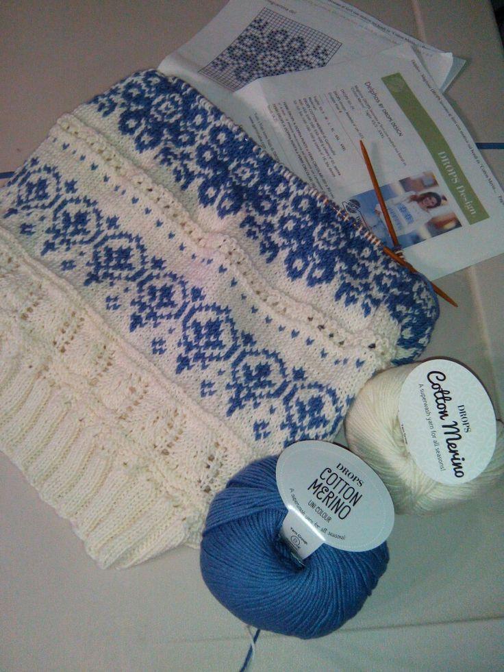 Il mio work in progress con Cotton Merino di Drops