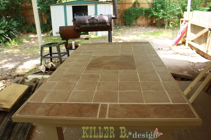 Outdoor Tiled Table Diy Pinterest Diy Tiles Need To And Patio
