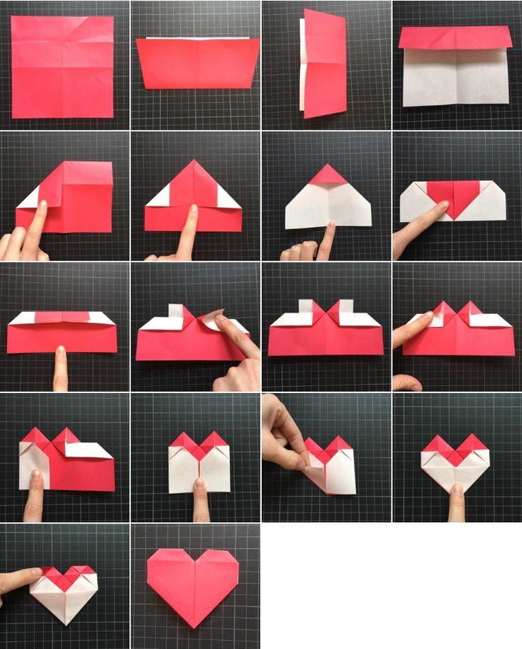 Tutoriales de papiroflexia: corazones de papel | Origami, Origami ...