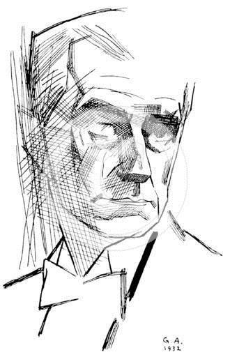 Yuri Annenkov ~ Maurice Ravel, 1932