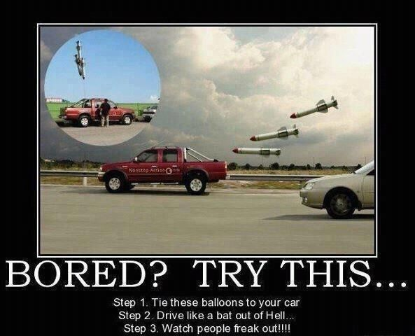 Bored? Try this... Car Missile Balloon