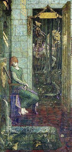 Image result for The Bluebird vintage book Cayley Robinson I feel frightened illustration