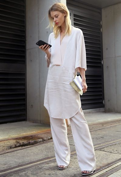 Natalie Cantell Important: dresses over trousers just got swishy