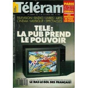 Télérama - n°1987 - 10/02/1988 - Télé : La pub prend le pouvoir [magazine mis en vente par Presse-Mémoire]