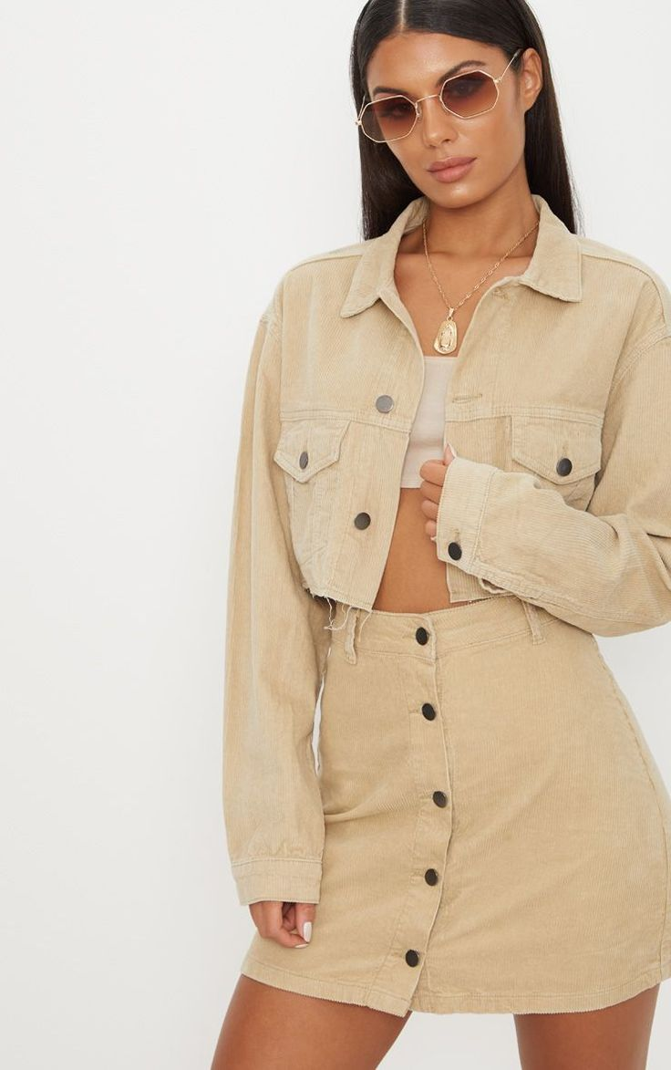 Stone Cropped Cord Jacket
