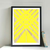 GICLEE PRINT - PLYWOOD YELLOW | Warehouse Home Online Shop