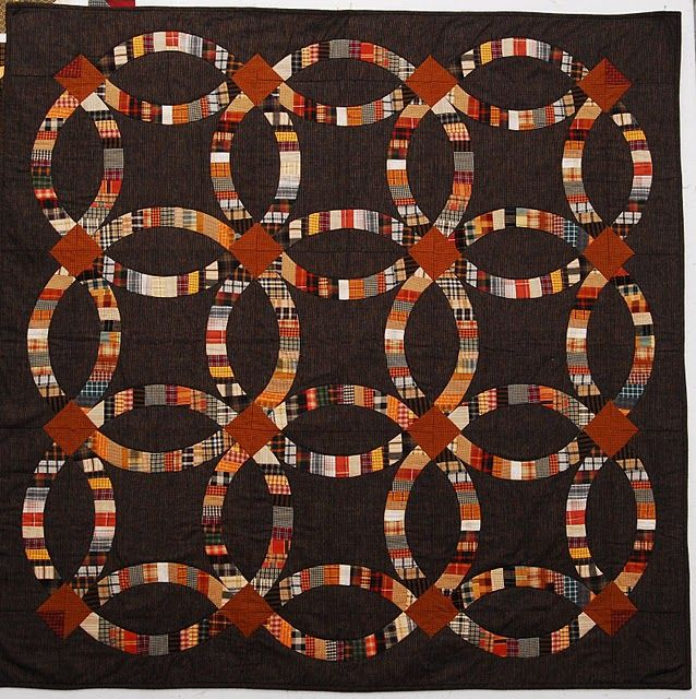 123 Best Images About Double Wedding Ring Quilts On Pinterest
