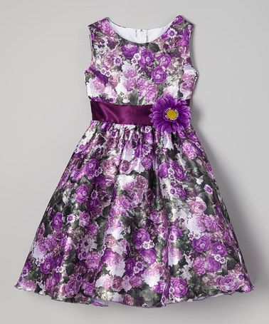 Purple Floral Dress - Infant, Toddler & Girls #zulily #zulilyfinds