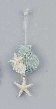 Deltona Seashells & Gifts - SHELL/STARFISH/SAND DOLLAR RESIN CHRISTMAS ORNAMENT (EA)