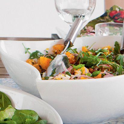 Салат с индейкой с апельсином и рукколой