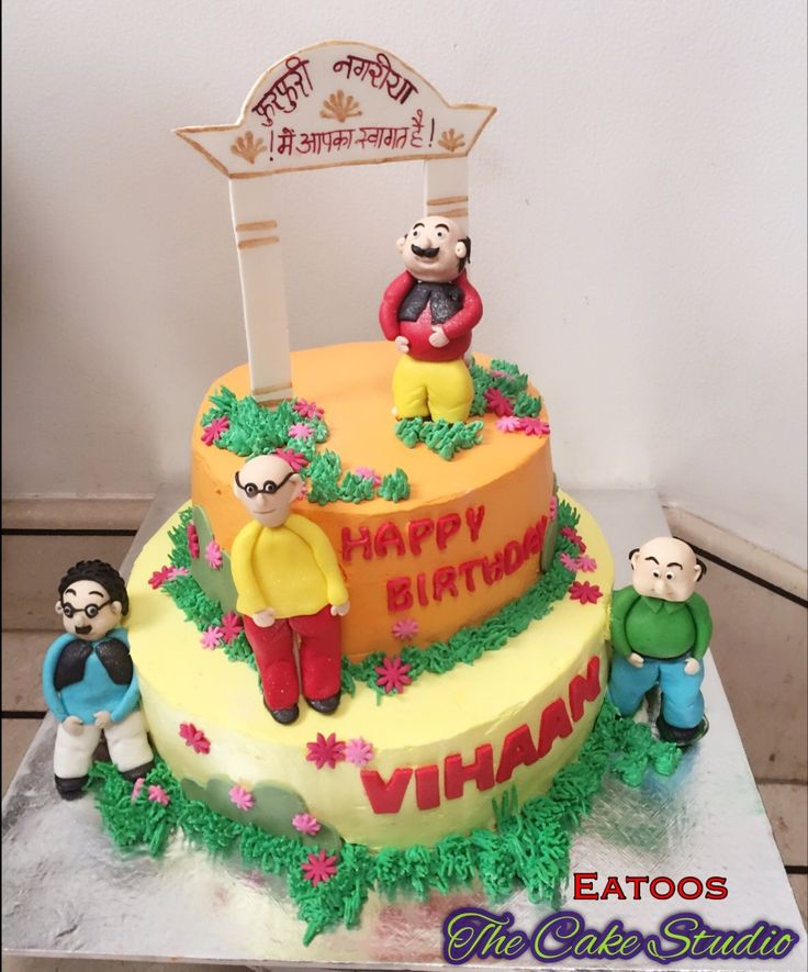 Cake Of Motu Patlu : 50 best images about Eatoos The Cake Studio on Pinterest ...