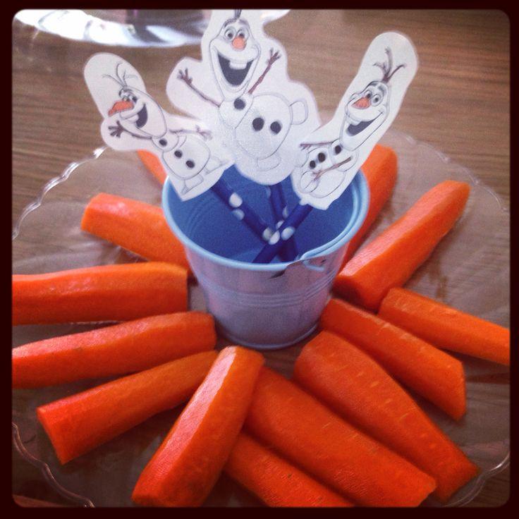 Olaf nose snack