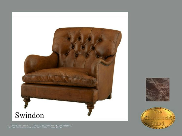 Chesterfield Sesselu003c/bru003eSwindon Old Look Braun