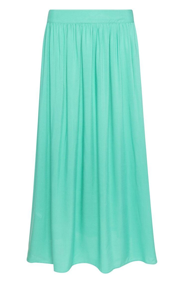 Primark - Falda larga de rayón de color turquesa