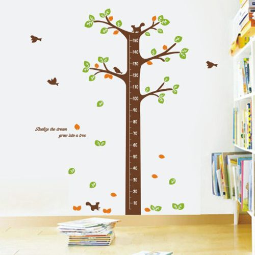 Whimsical Wall Stickers - Tree and Squirrels, $9.95 (http://www.whimsicalwallstickers.com.au/tree-and-squirrels/)  A fantastic growth chart for keeping track of the whole family