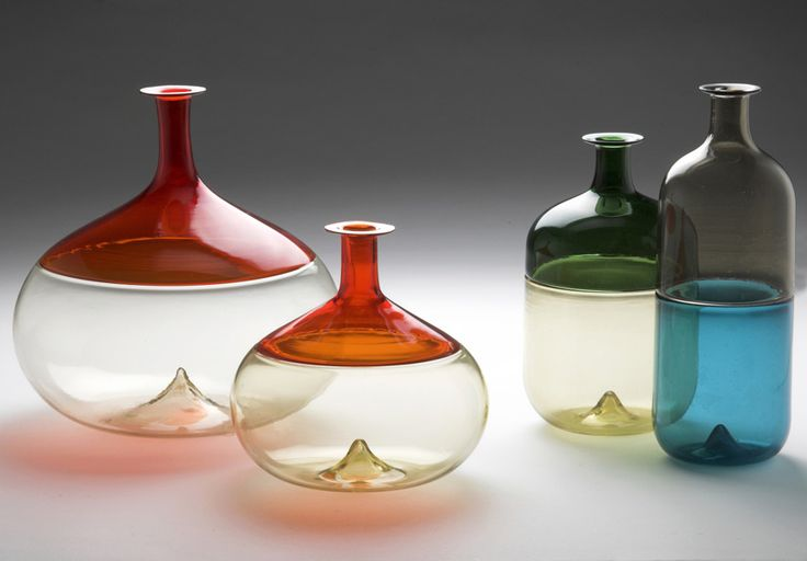 Tapio Wirkkala, prototypes for Bolle series, 1966-67. For Venini, Murano, Venice. Photo Timo Syrjänen. Source