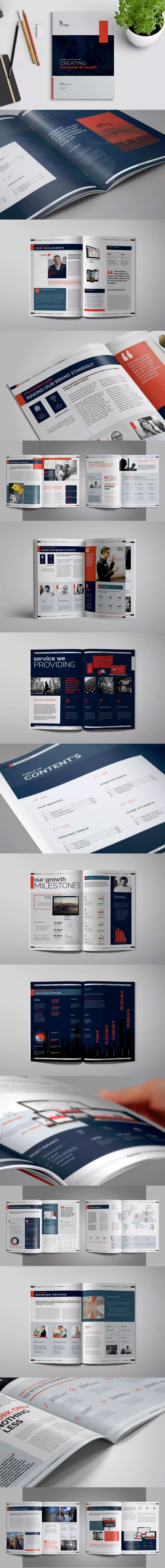 Annual Report Template InDesign INDD A4 anf