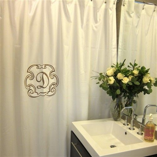 Deluxe Monogrammed Shower Curtain
