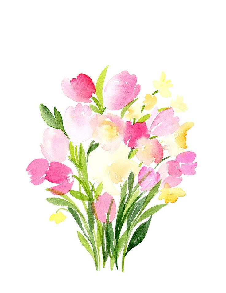 938 best SiMpLe FlOrALs images on Pinterest | Drawings, Paintings ...