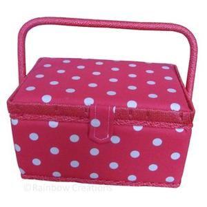 Plka Dot Design Sewing Basket For Children