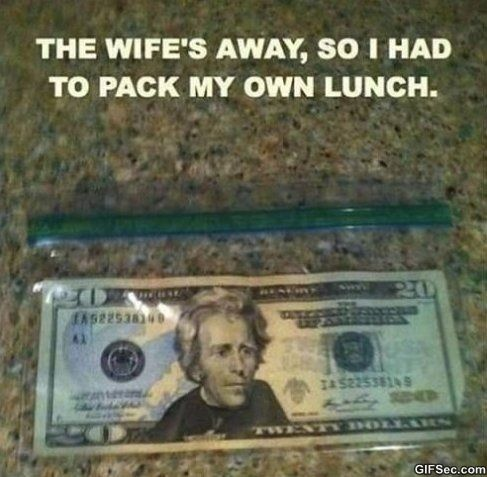 Pack My Own Lunch MEME