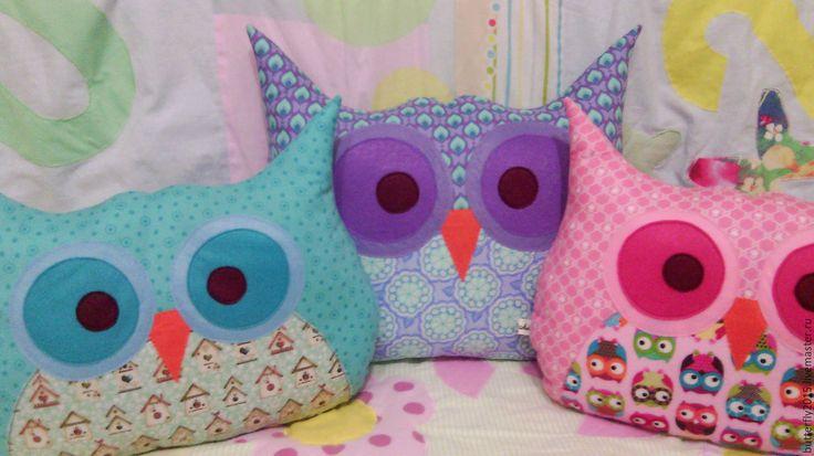 """Купить интерьерная подушка """"Сова"""" - сова, подушка, подушка-игрушка, полезный подарок, недорогой подарок"""