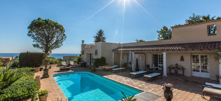 Villa Boucheron on the Côte d'Azur in the South of France offers top notch accommodation, an amazing 360 degree panorama including views over the Med and is surprisingly affordable.