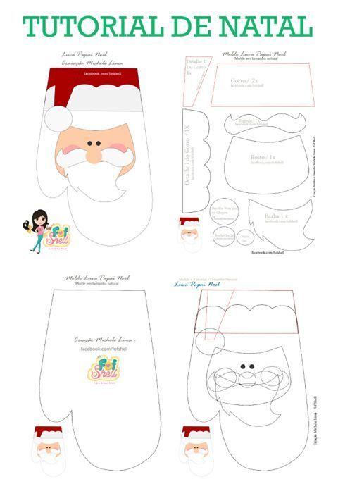 Santa mitten pattern: