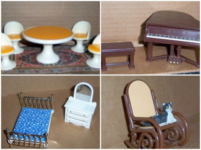mid century dollhouse furniture | My Web Value