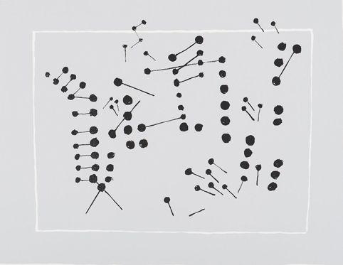 Ernst Mether-Borgström: Vanha kiinalainen soitin, 1970, serigrafia, 47x62,5 cm, edition 90 - Galleria Bronda 2016
