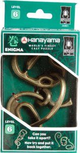 BePuzzled #Hanayama Cast Metal #Brainteaser #Puzzles, gives to you the opportunity to reinvented, to discover how you can resolve this #enigma puzzle. It's a puzzle at #level6  http://crazygeektoys.com/hanayama-enigma-puzzle-level-6/  #CrazyGeekToys