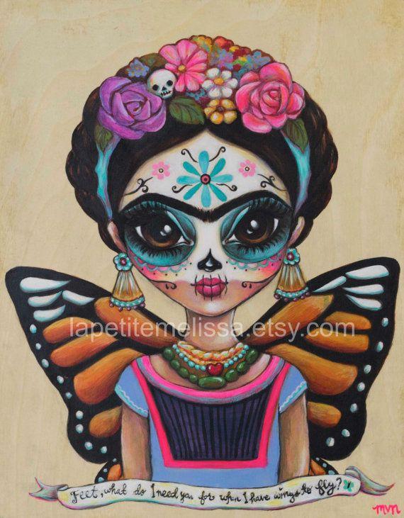 Frida Mariposa Frida Kahlo inspira impresión por LaPetiteMelissa