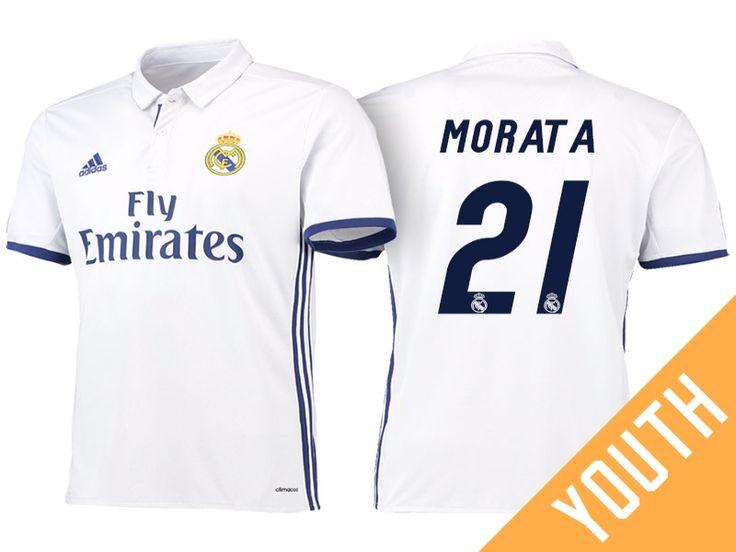 Real Madrid #21 Alvaro Morata 2016-17 Home Jersey - Youth