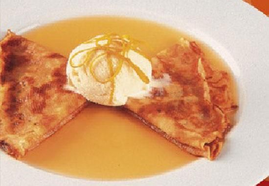 Crêpes Mandarine - pannenkoeken met Mandarine Napoleon