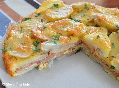 Bacon and Cheese Tortillia Espanola  #Spanish #lowfat #healthyeating