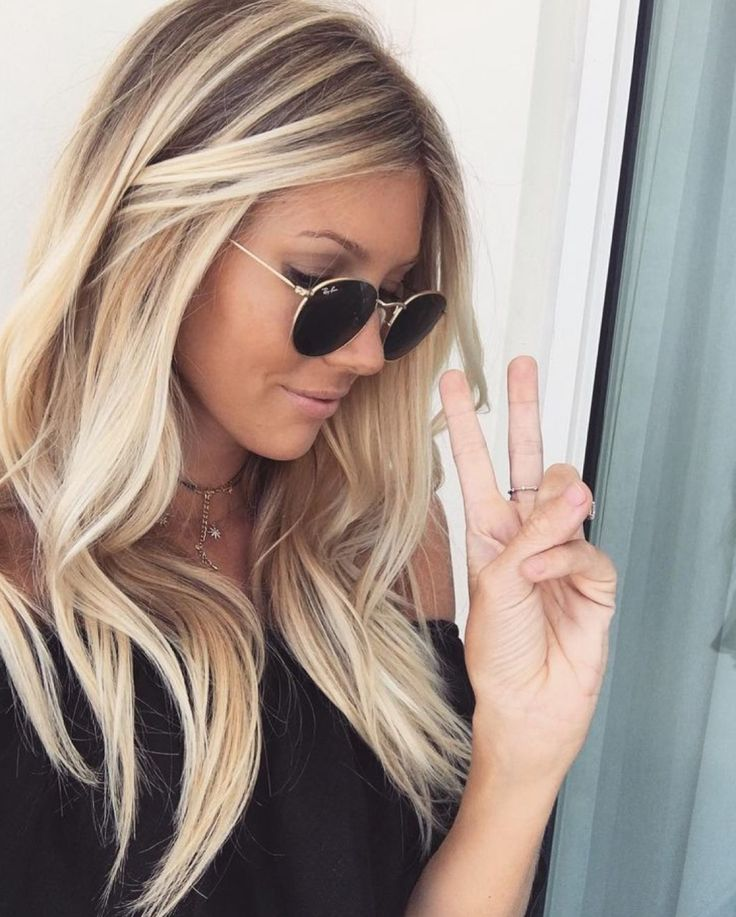 25 beautiful blonde with highlights ideas on pinterest blonde beautiful blonde light caramel root with stunning icy blonde chunky highlights forming a balayage urmus Choice Image