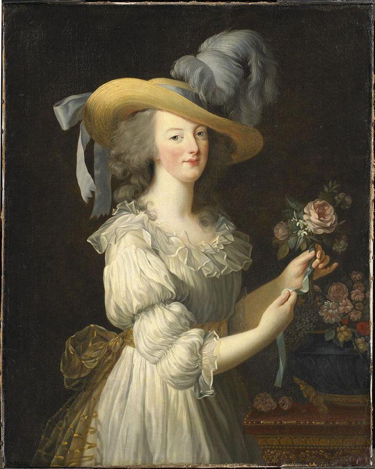 Élisabeth Louise Vigée Le Brun, Portrait de Marie Antoinette en robe de mousseline dite 'à la créole', 'en chemise' ou 'en gaulle'. © Hessische Hausstiftung, Kronberg im Taunus