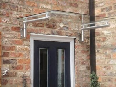 Luxury Stainless Steel + Real Glass Canopy Porch - Door Shelter / Balcony on eBay!