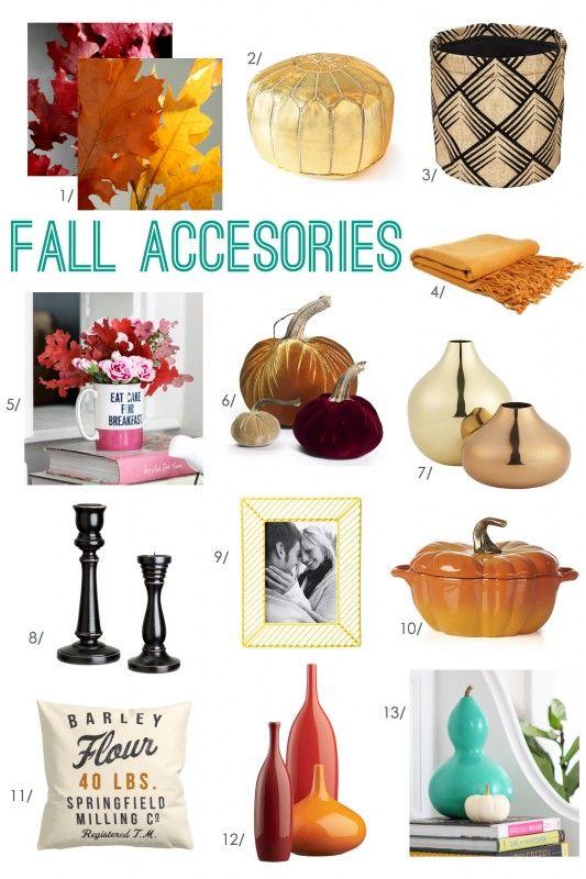 Fall Home Decor Accessories