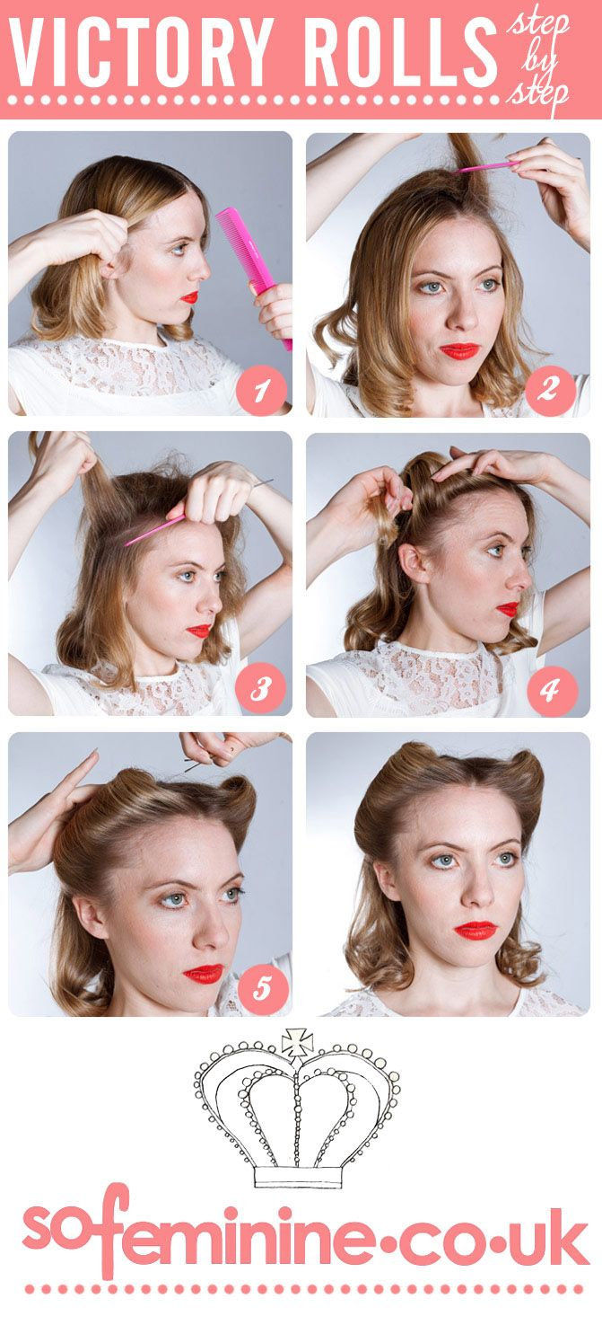 Victory Rolls - the glamorous Forties style is perfect for wedding hair that will look good all day long! Xx
