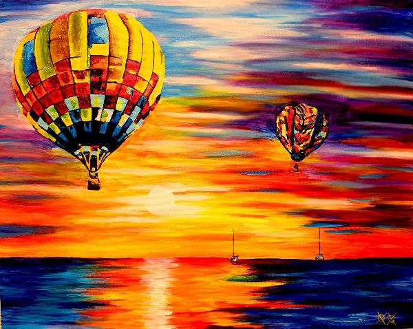 Balloon Sunrise de John Bramblitt, peintre aveugle.