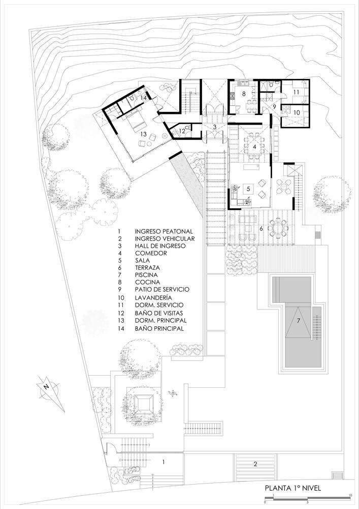 Gallery Of Mec House Francisco Dulanto Carbajal 25 Facade House Ground Floor Plan Floor Plans