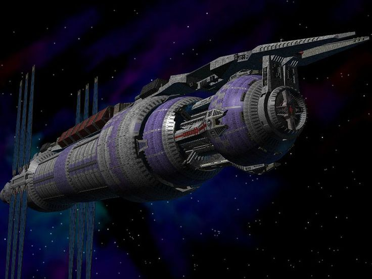 The five mile long Babylon 5 space station from the TV series Babylon 5, 1994