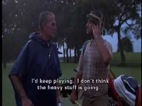 bishop From Caddyshack | Golfing In A Storm - Caddyshack