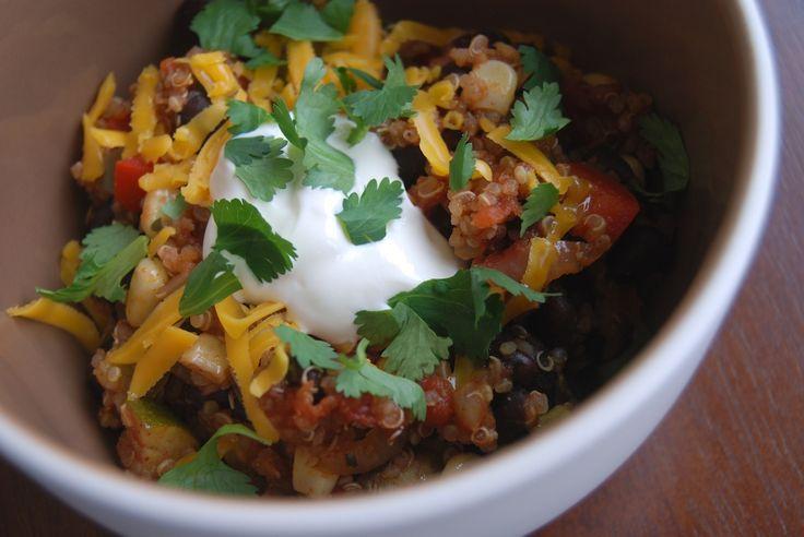 Black bean & quinoa chili | Soup and Salad Delight | Pinterest