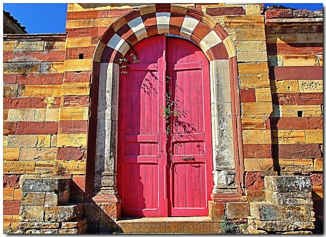 the pink door Campos Chios Island, Greece, next to my house. . .