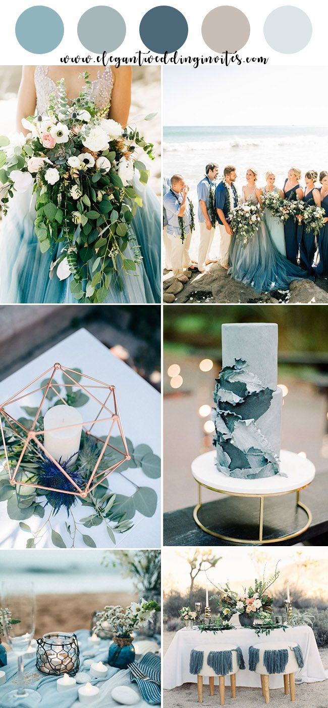 Top 10 Gorgeous Blue Wedding Color Combos For 2019 Elegantweddinginvites Com Blog Beach Wedding Decorations Beach Wedding Colors Wedding Colors Blue