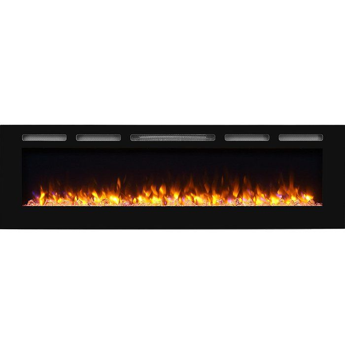 Callan Recessed Wall Mounted Electric Fireplace Wall Mount