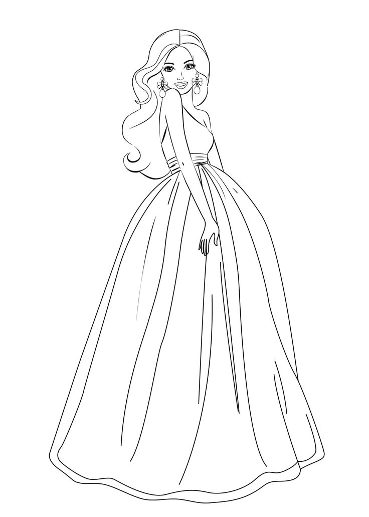 Coloring Dress Pages For Girls - Coloring Page